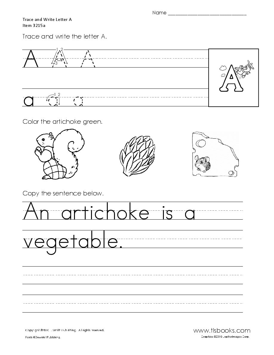 Trace and Print Letters A to Z Lettering