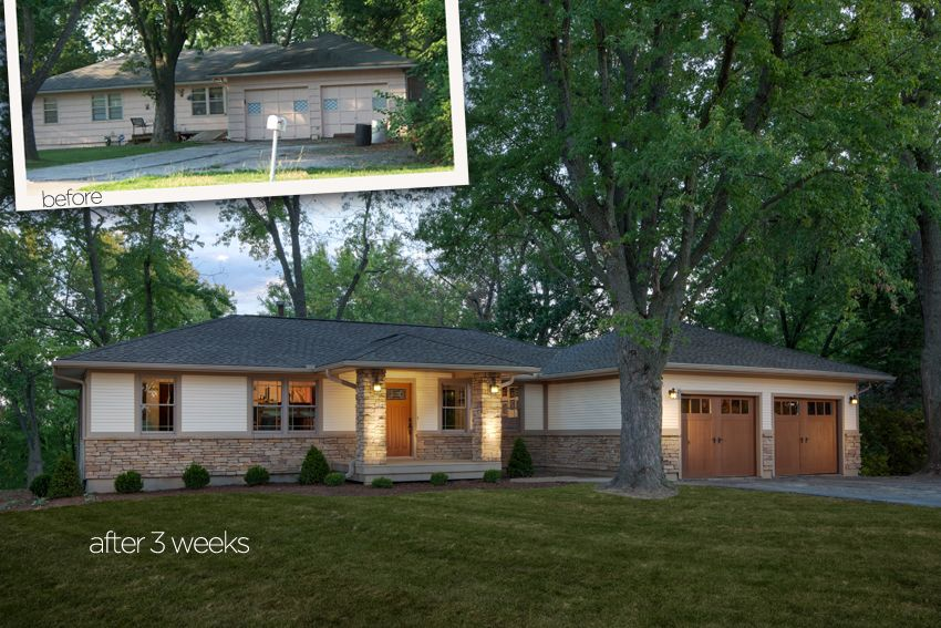 A Ranch Style Home Transformed By Adding New Windows Siding And Inspiration Ranch Style Home Remodel Style Collection