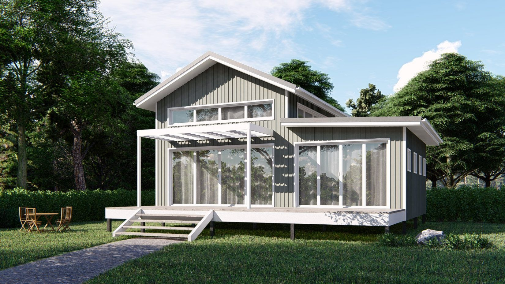 Billabong Kit Home 52m2 From 34 892 Imagine Kit Homes Kit Homes Tiny House Exterior Tiny House Kits