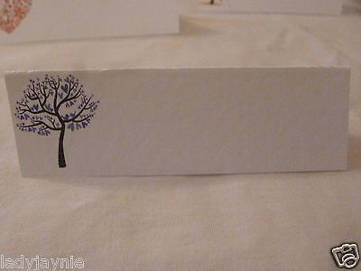 50 Wedding Place Cards for your Guests Names - Purple Love Heart Tree