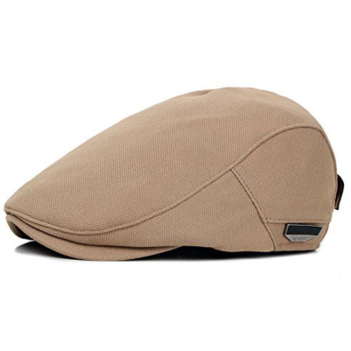 ac20d05f8fe  10.99 Men s Classic Classic Solid Color Beret Hat Flat Cotton newsboy  artist Vintage Cap Solid Color