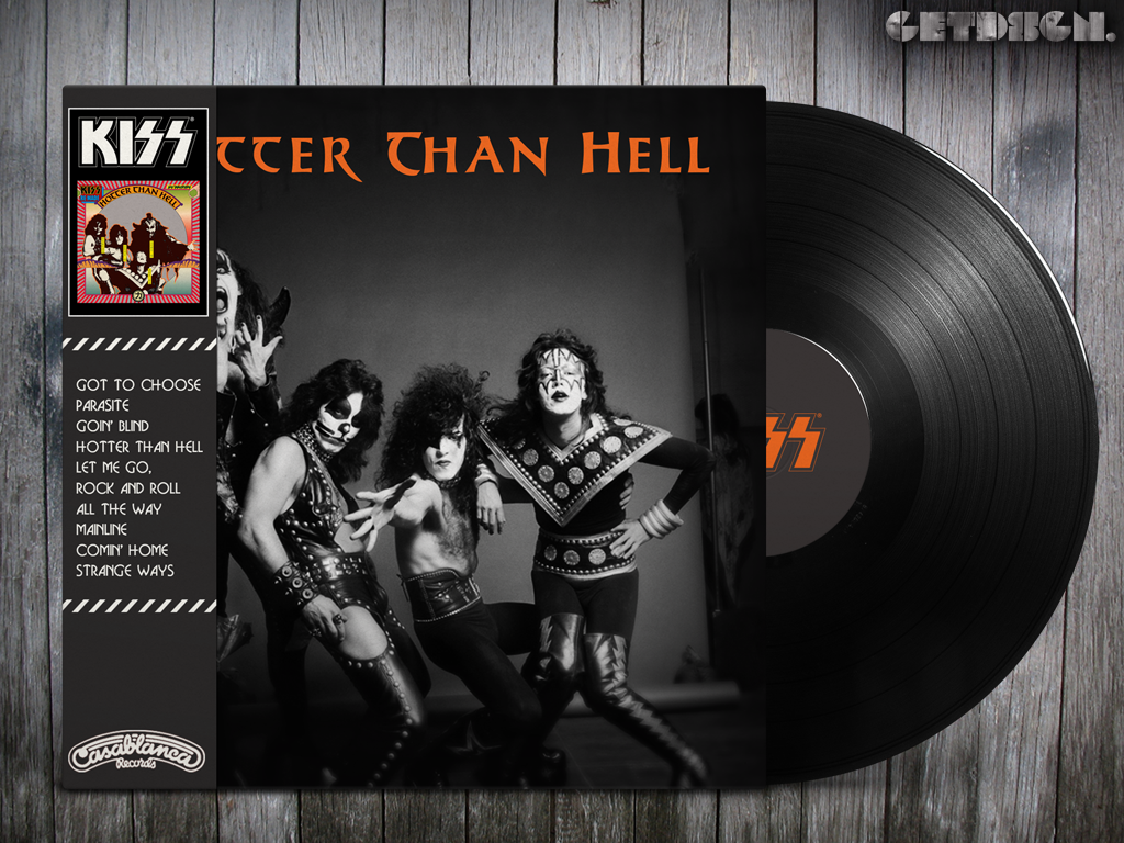 Kiss Hotter Than Hell Alternative Cover Hard Rock And