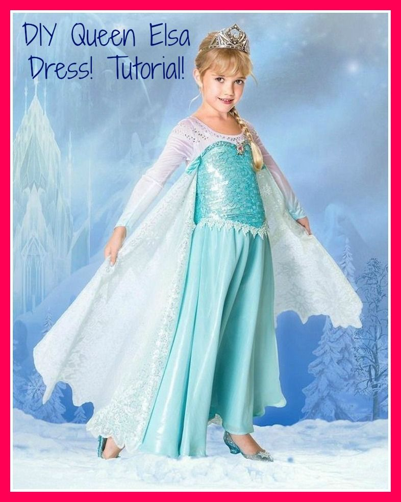 DIY Queen Elsa Dress don\'t really care about the website but I like ...