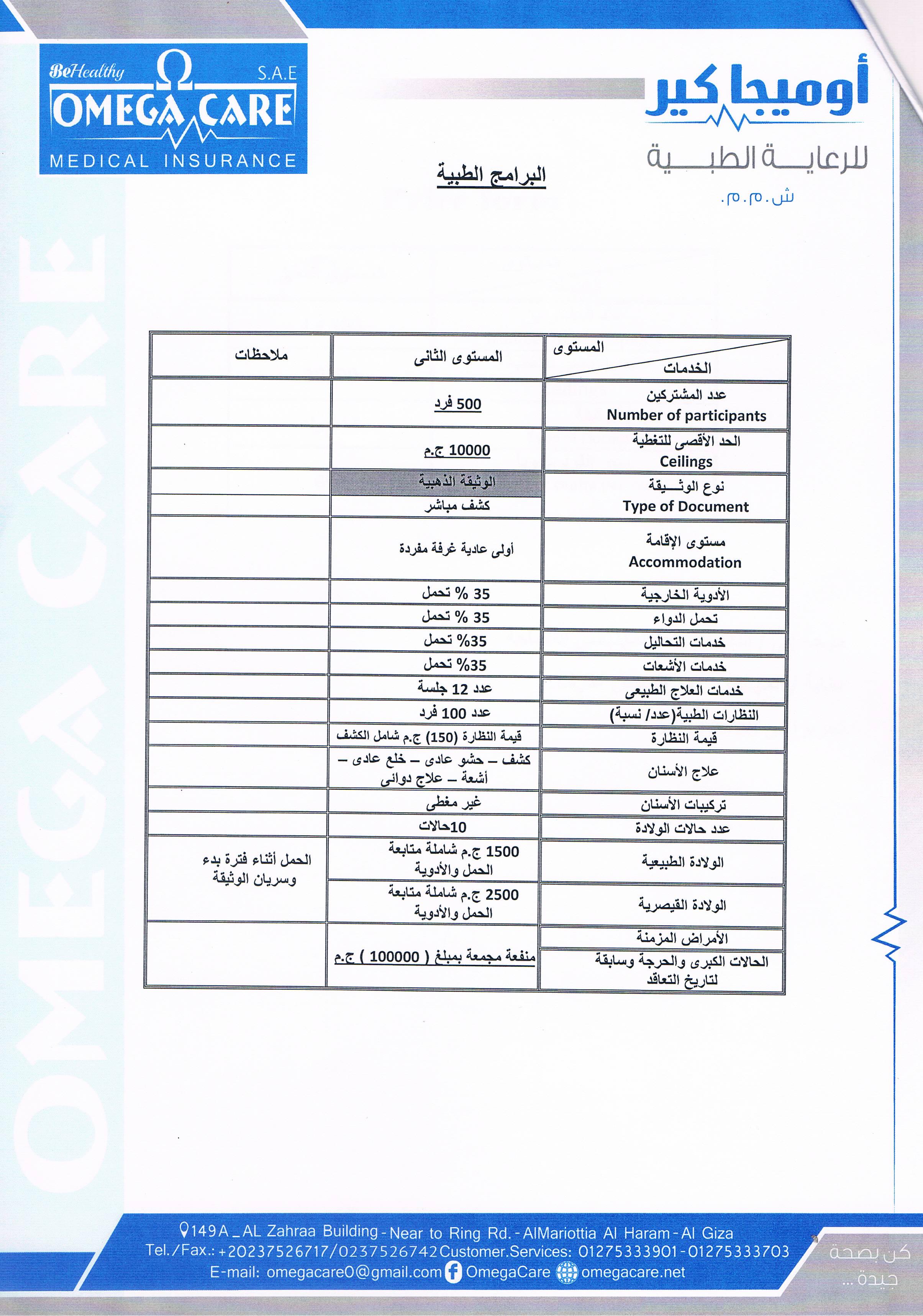 قائمة مستشفيات تأمين العربية