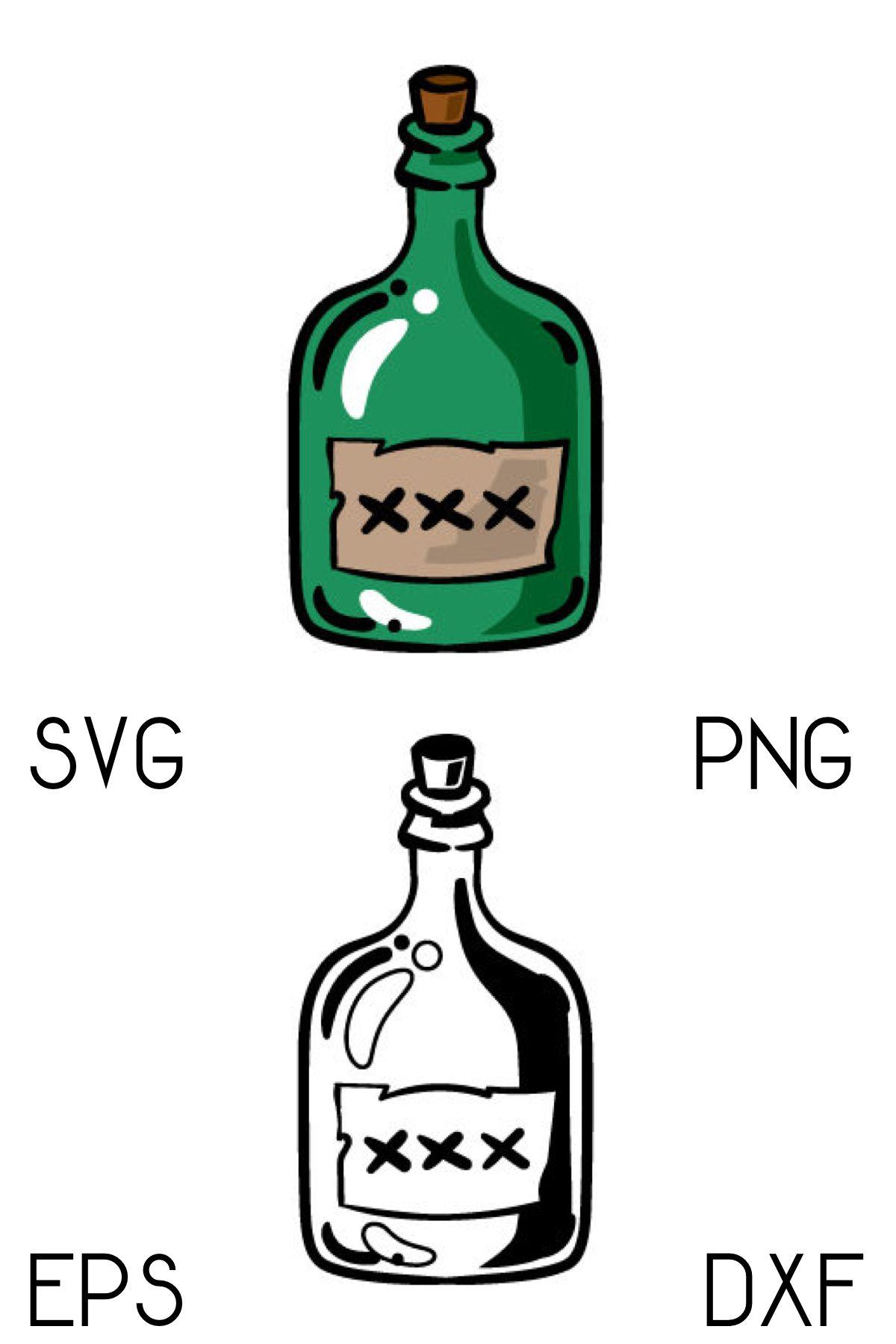 Image by Shutterstock Bottle Of Rum Sketch Men/'s Tee