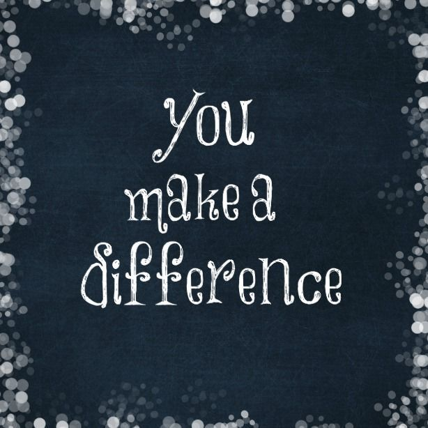 You Make a Difference Quote Magnet   Zazzle.com