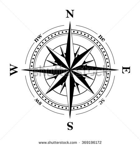Compass Navigation Dial Highly Detailed Vector Illustration Idee Per Tatuaggi