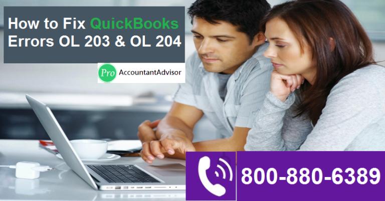 QuickBooks Error Code OL 203 and OL 204 [Resolved] - Banking Setup