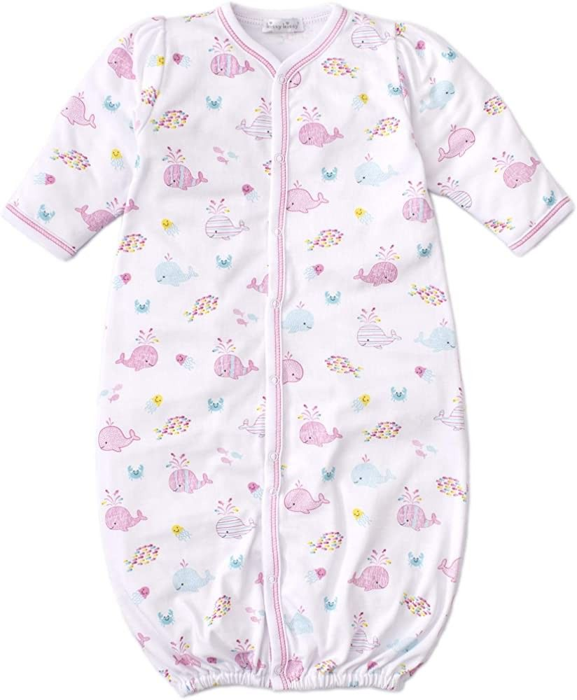 Kissy Kissy Baby-Girls Infant Whale of A Time Print Footie