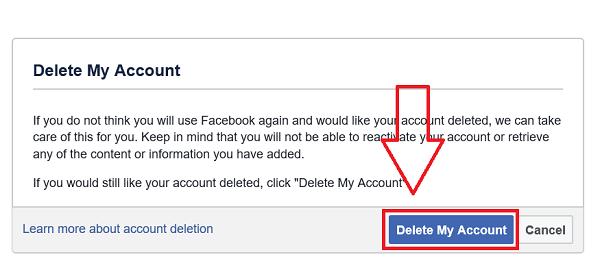 Delete Facebook Account Delete Facebook Accounting Deactivate Facebook
