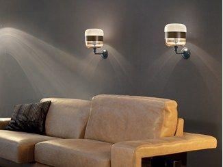 Direct Indirect Light Blown Glass Wall Lamp Futura Ap Vetreria Vistosi With Images Wall Lamp Interior Wall Lamp Wall Lamp Shades