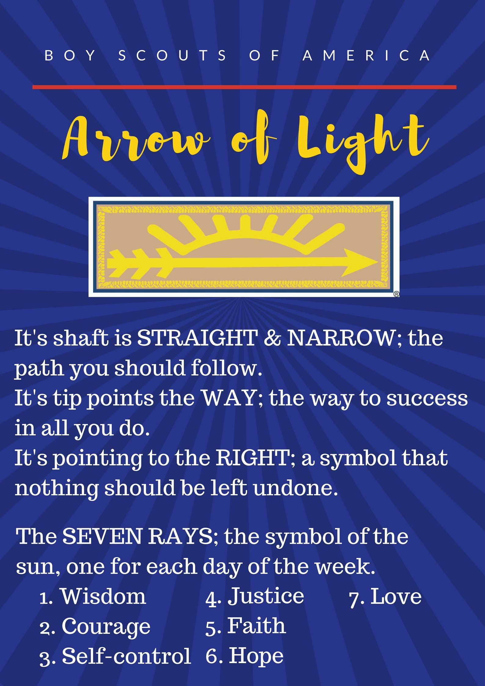 I made this printable for our arrow of light ceremony cub scouts i made this printable for our arrow of light ceremony buycottarizona Choice Image