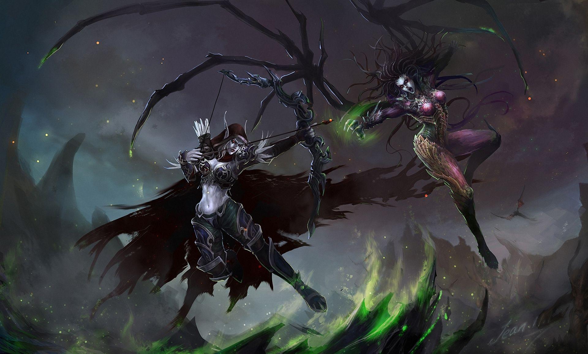 Wow Female Wallpaper World Of Warcraft Wow Warriors Archers
