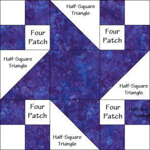 Milky Way Quilt Block Diagram Free Pattern at QuiltTherapy.com ... : milky way quilt pattern - Adamdwight.com