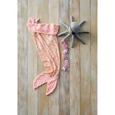 Mermaid Tail Wearable Blanket Pink - Pillowfort