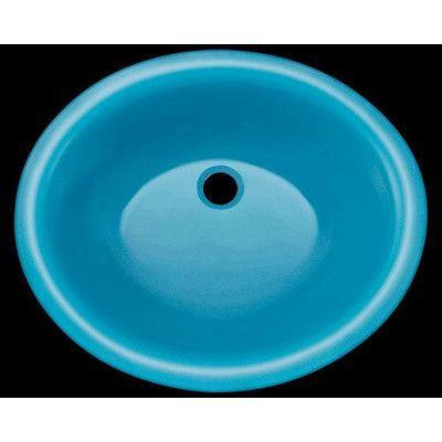 Polaris Sinks Glass Circular Undermount Bathroom Sink Sink Finish:
