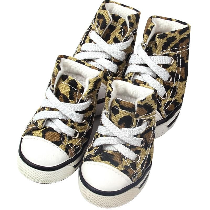 Converse Dog Shoes Leopard Print Denim Dogs will look hip