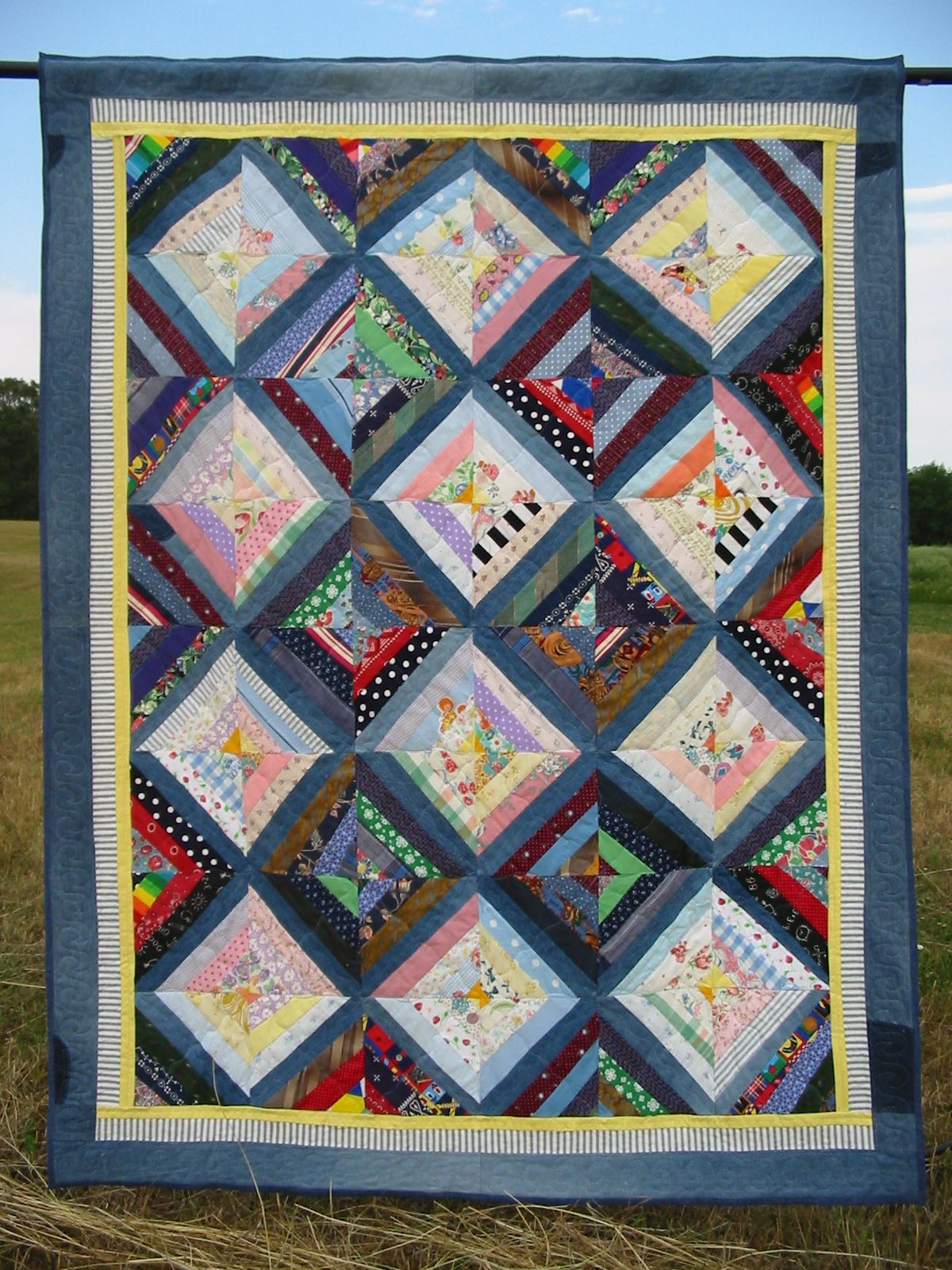 Trapp Family V (Wendy's Quilt) - 60x74 String Patchwork.JPG 1.200 ... : quilting patchwork - Adamdwight.com