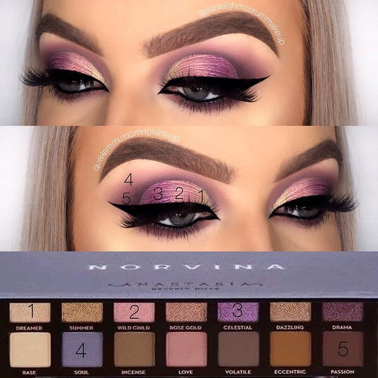 """GOLD COAST MAKEUP ARTIST on Instagram: """"Here's a little pictorial using @anastasiabeverlyhills @norvina palette🦄  I hope it helps you guys to see what specific shades I used from…"""""""