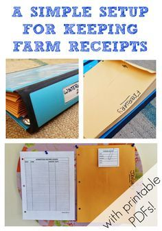 A quick and easy solution for keeping track of cash sales and farm expenses - should make things easier come tax time!