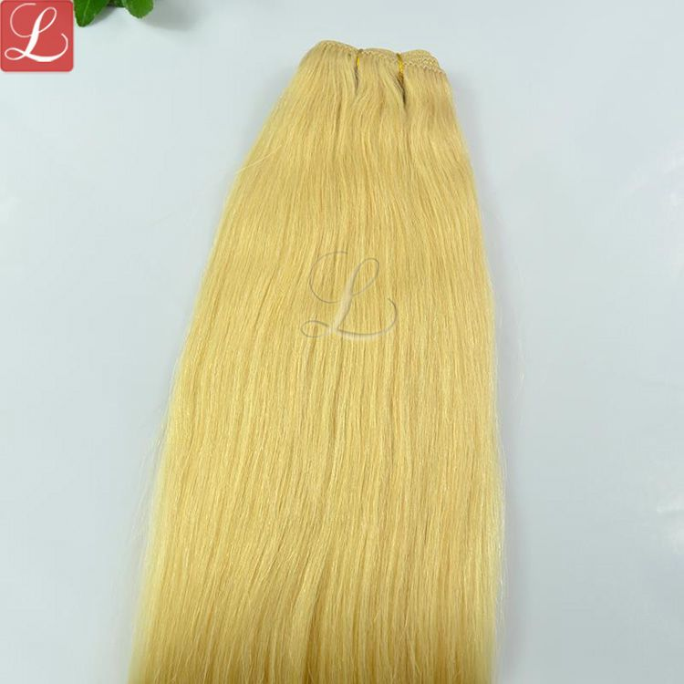 Color 24 Blonde Hair Weave Top Quality Human Hair Extensions On