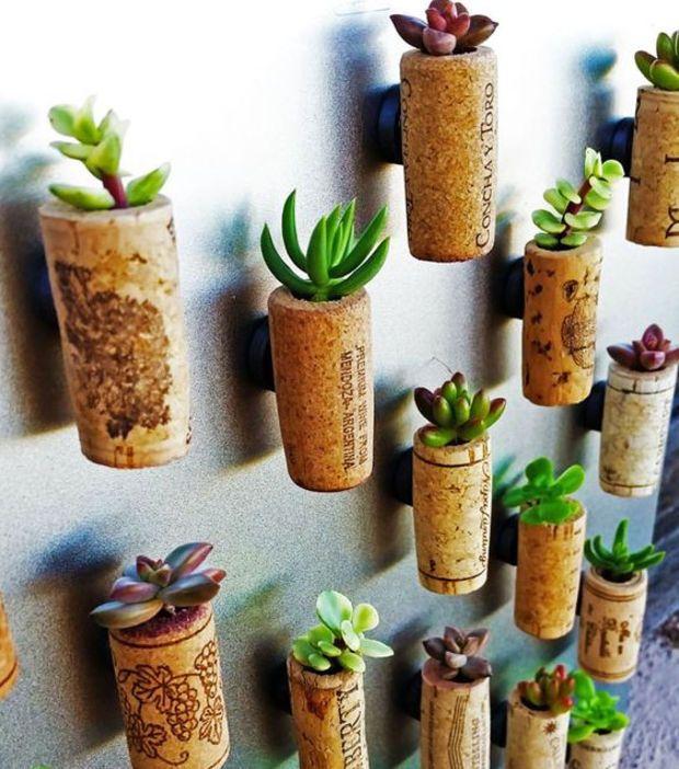 Des bouchons de li ge pour des mini plantes ustensile - Vieux ustensiles de cuisine ...
