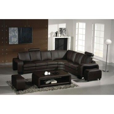 Sleeper Sofas Flix Modern Espresso Leather Sectional Sofa Sectional Sofas Living Room