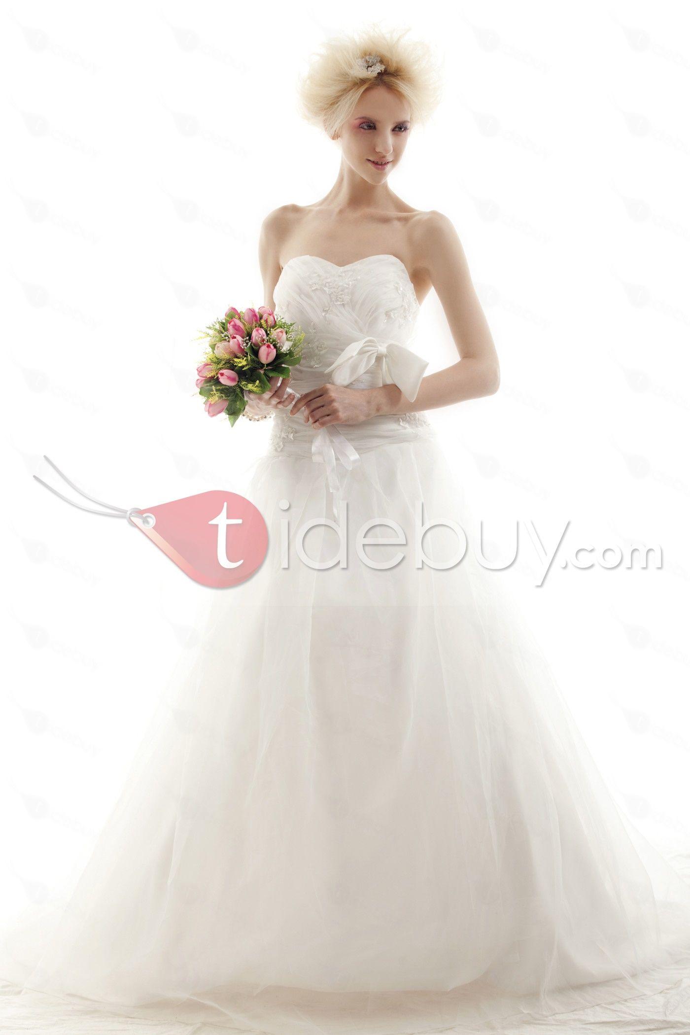 Amazing Ball Gown Sweetheart Chapel Nastye's Wedding Dress for Brides : Tidebuy.com     Beach wedding