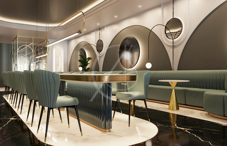Modern Luxury Café On Ath Thumamah Road Riyadh Saudi Arabia Cas Cafe Interior Design Cafe Interior Luxury Cafe