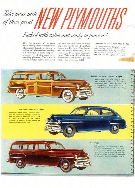 1950 Plymouth Usa P1 Plymouth Car Ads Station Wagon