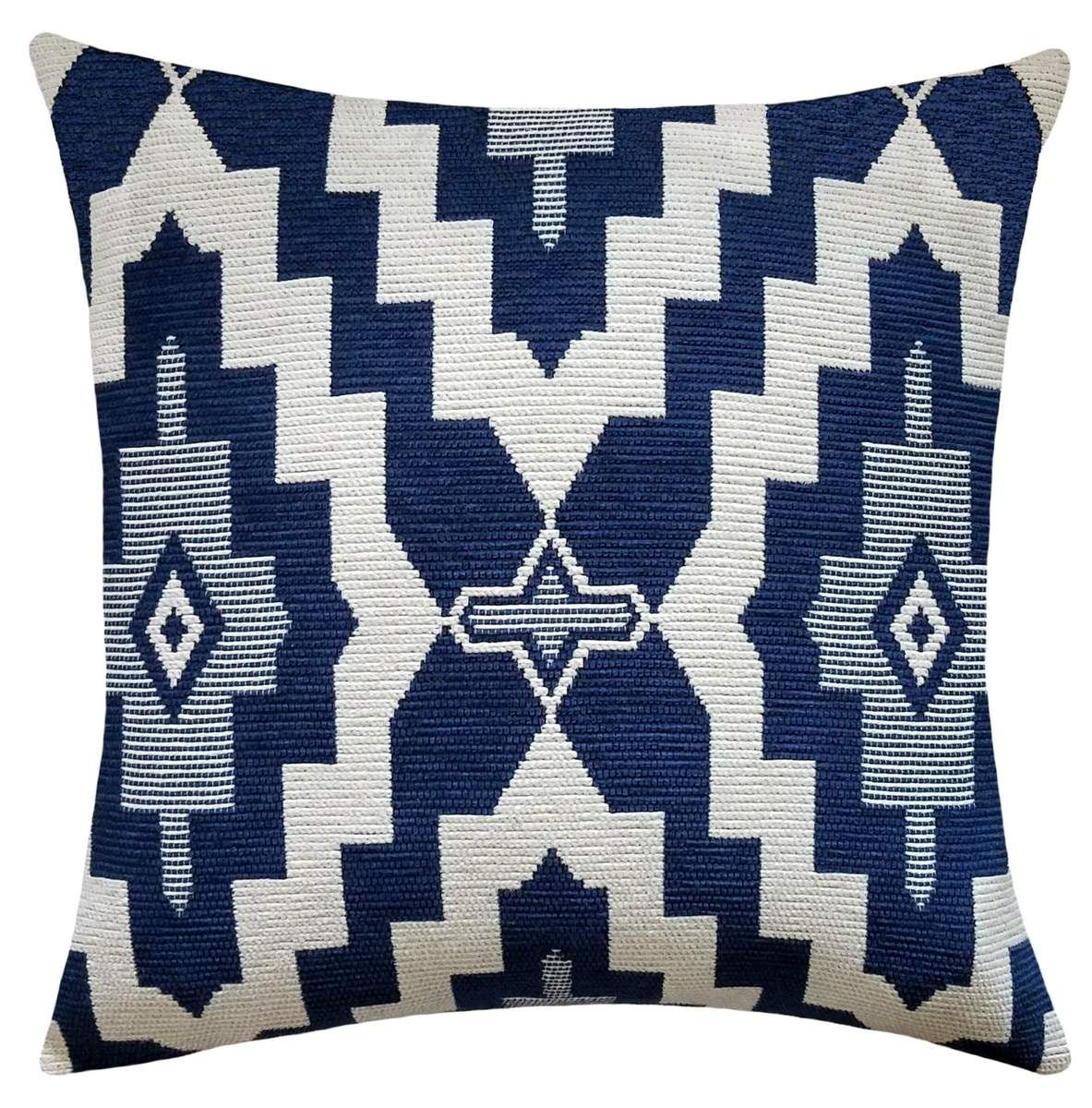 Taos Navy Blue Southwestern Geometric Pillow Geometric Pillow