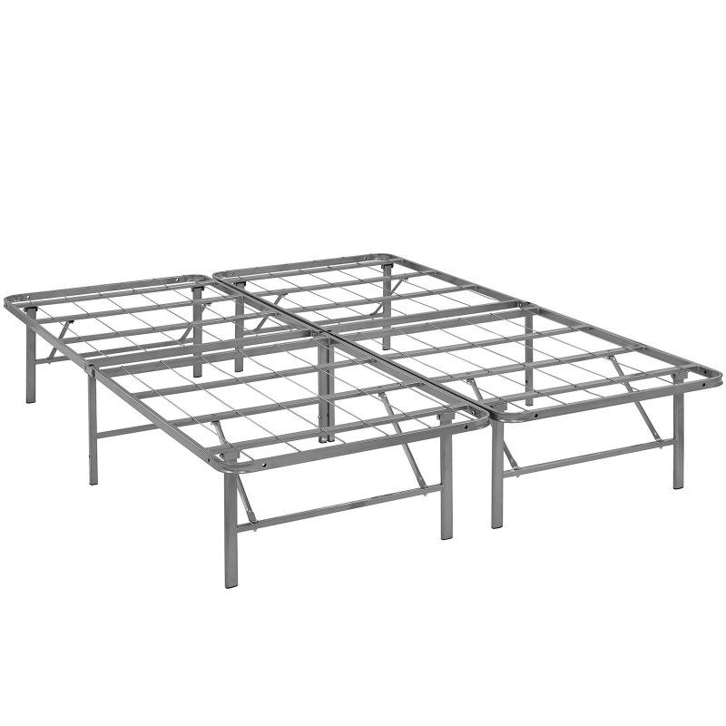 Modway Horizons Stainless Steel Bed Frame Silver, Size: Queen - MOD ...
