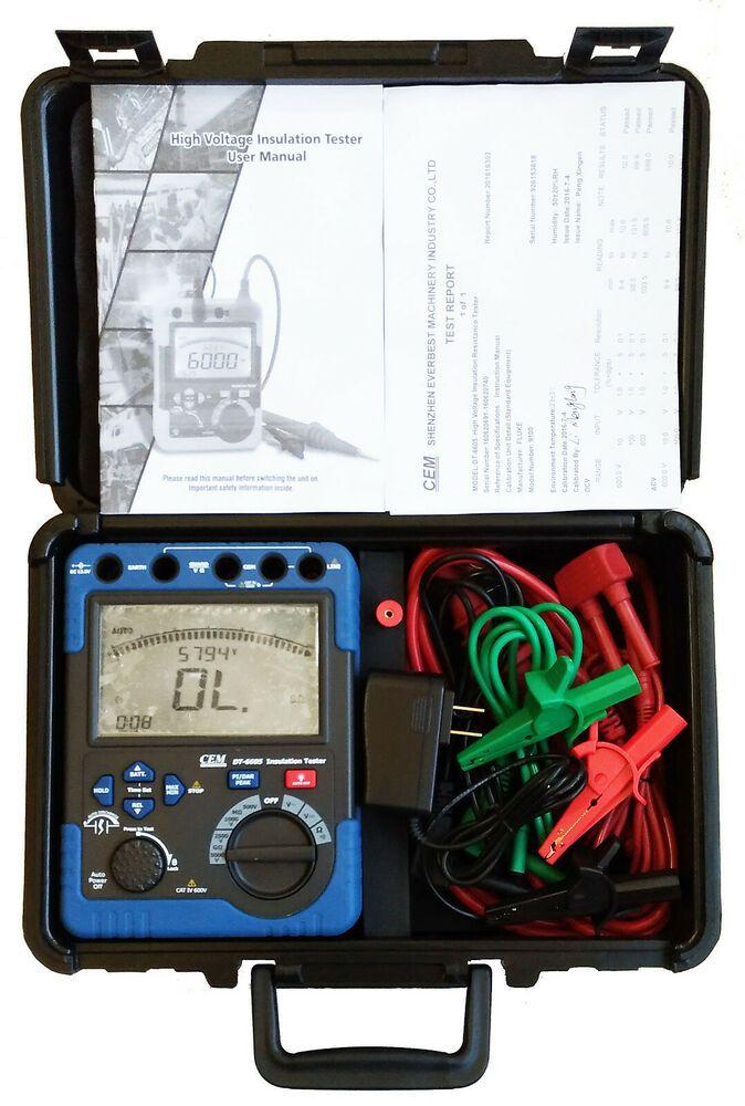 Sponsored)(eBay) 5000V 60 G Ohm Insulation Tester Megger