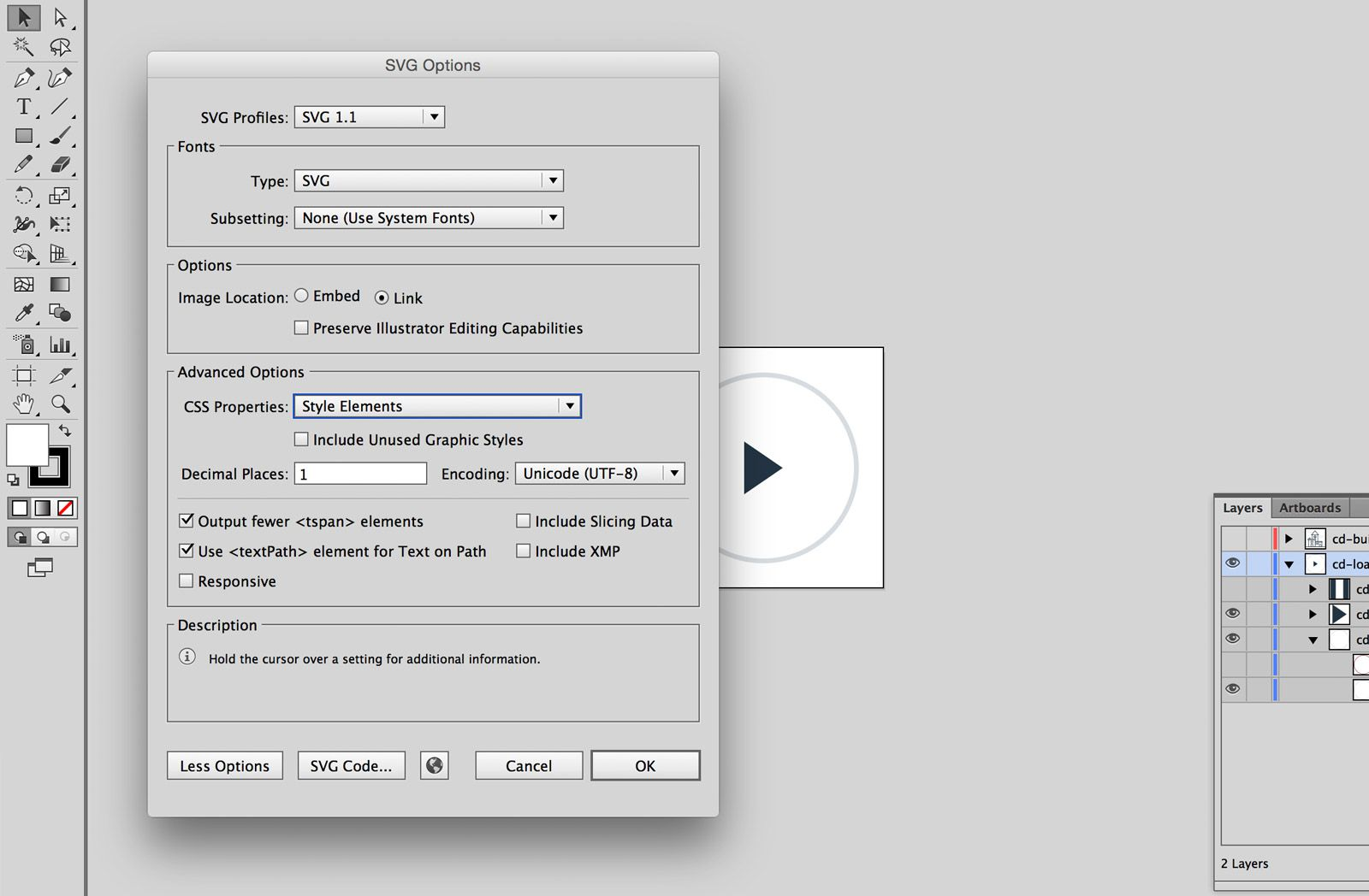 SVG save settings in AI Animated svg icons, Svg, Css