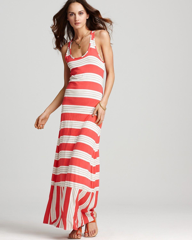 Splendid Dress Palm Stripe Maxi Dress Women Bloomingdale S Splendid Dress Striped Maxi Dresses Splendid Maxi Dress