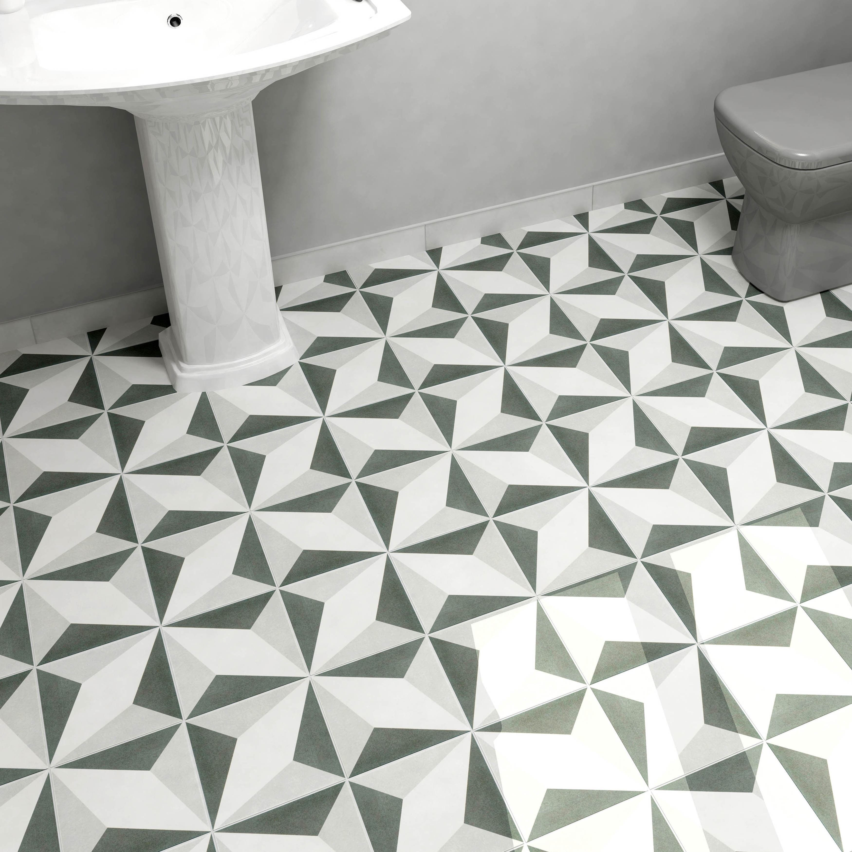 Somertile 775x775 Inch Thirties Diamond Ceramic Floor And Wall