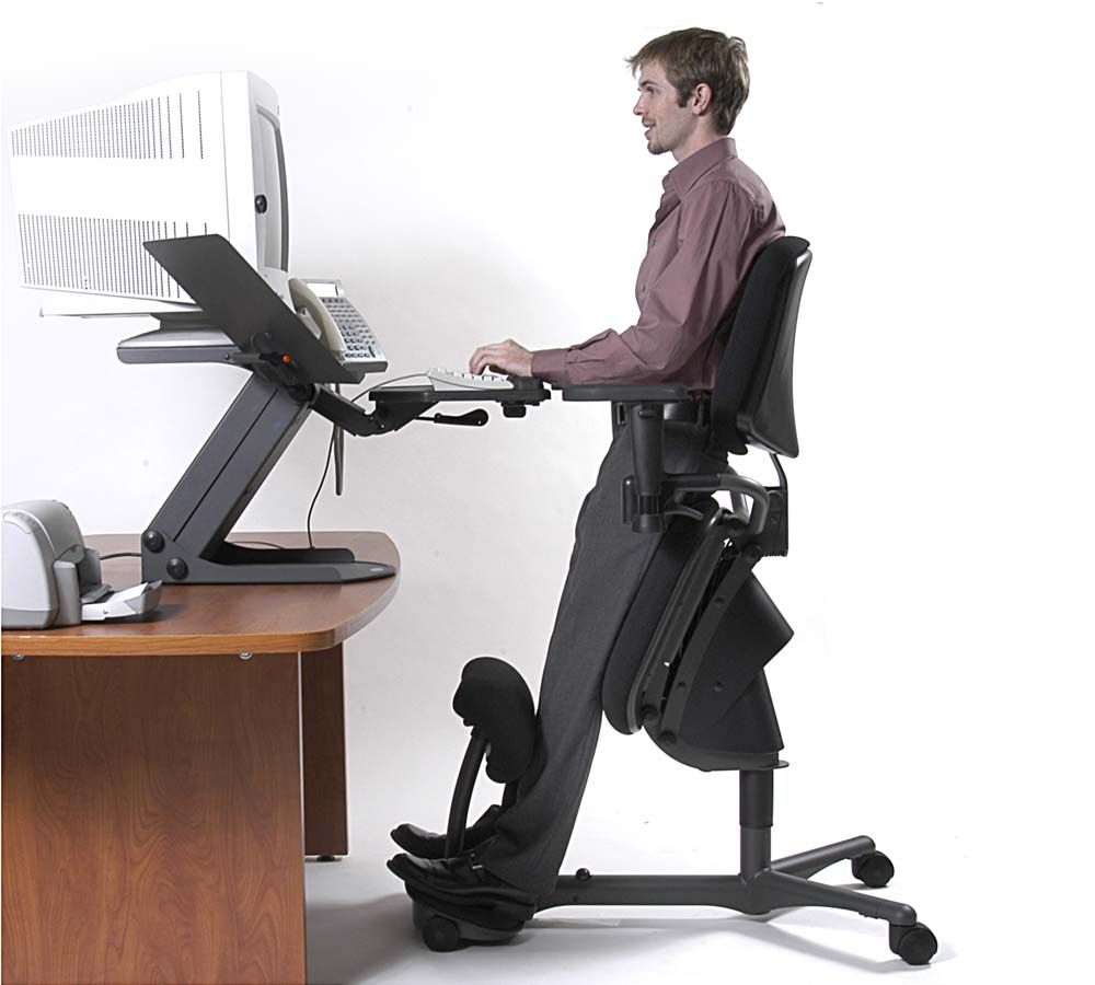 standing workstation stance angle chair back pain relief x