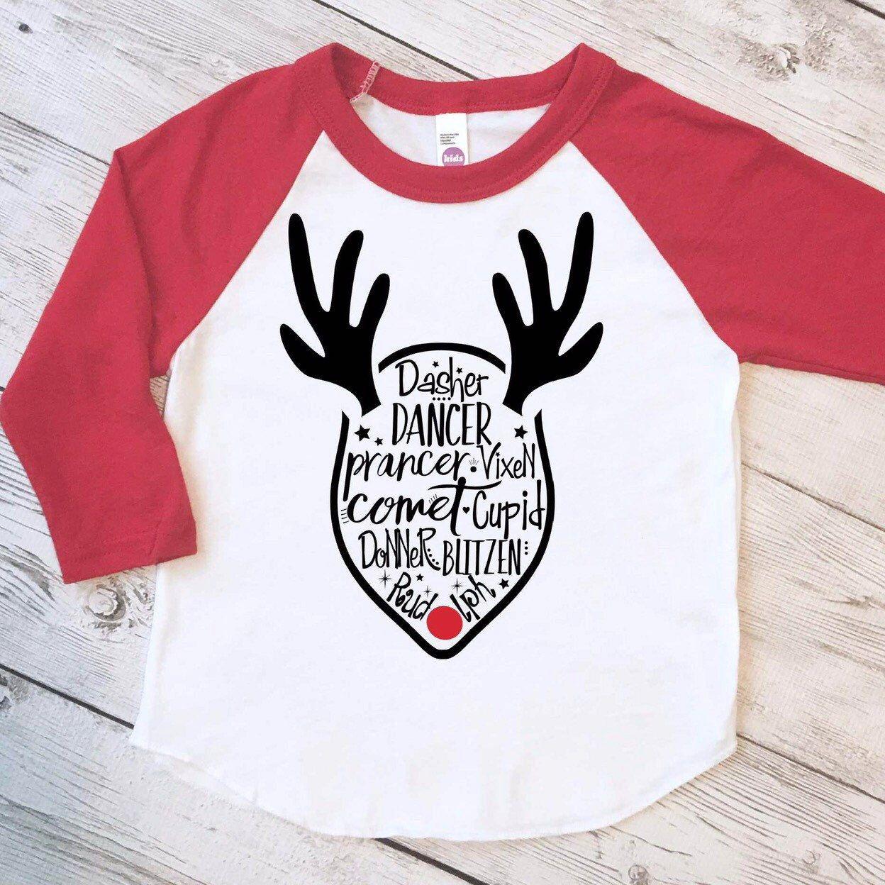 Funny kids Christmas shirt, reindeer shirt, kids christmas ...