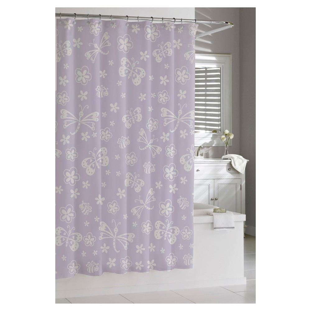 Butterfly shower curtain purple kassatex butterfly and products
