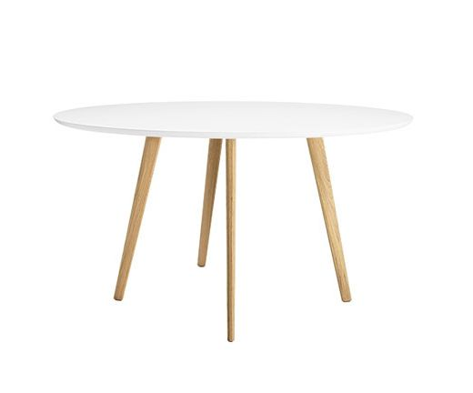 Tavolo Arper ~ Gher table arper table with round top white craft