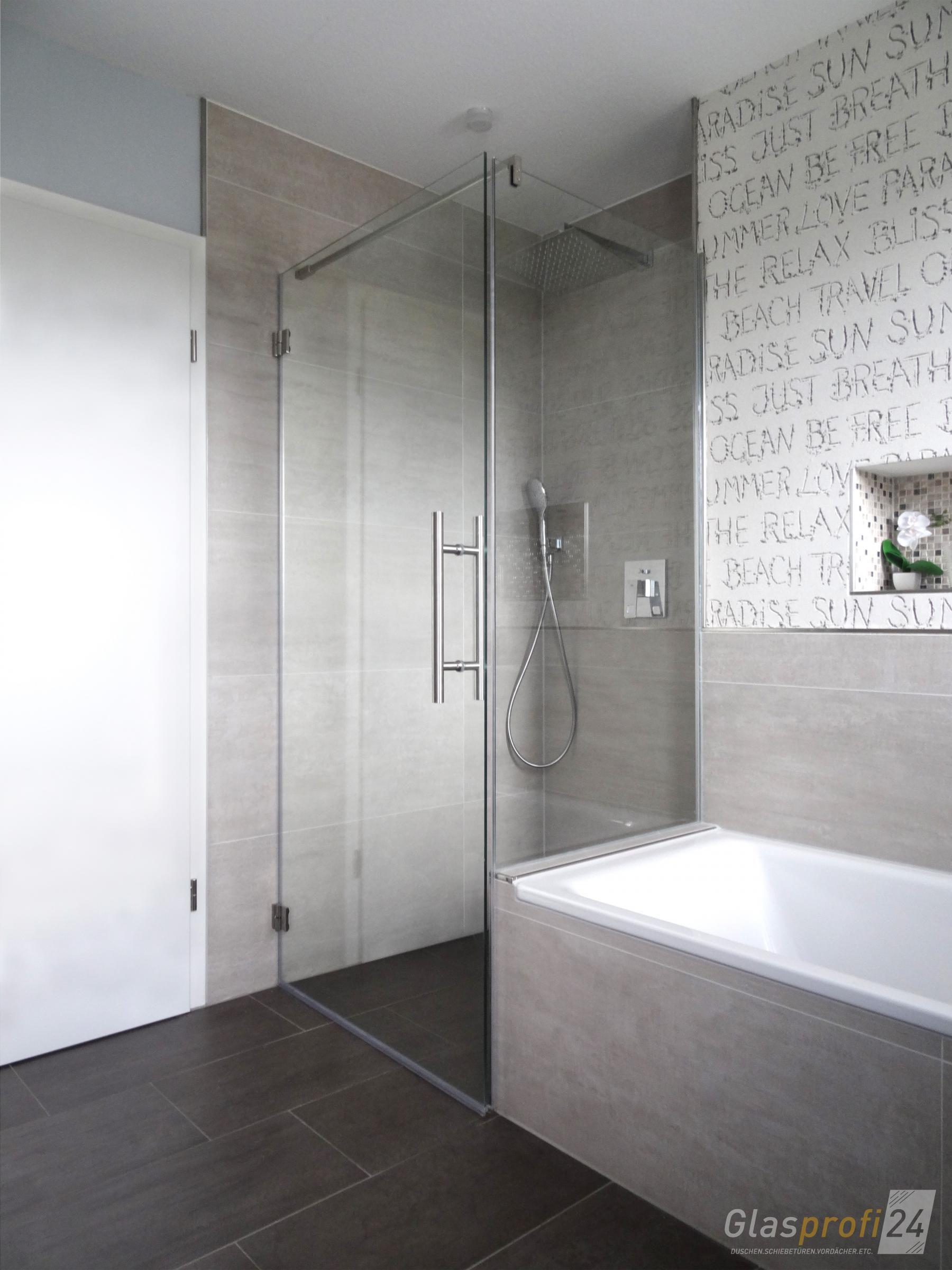 duschkabine an badewanne 90x90 Badkamer modern, Moderne
