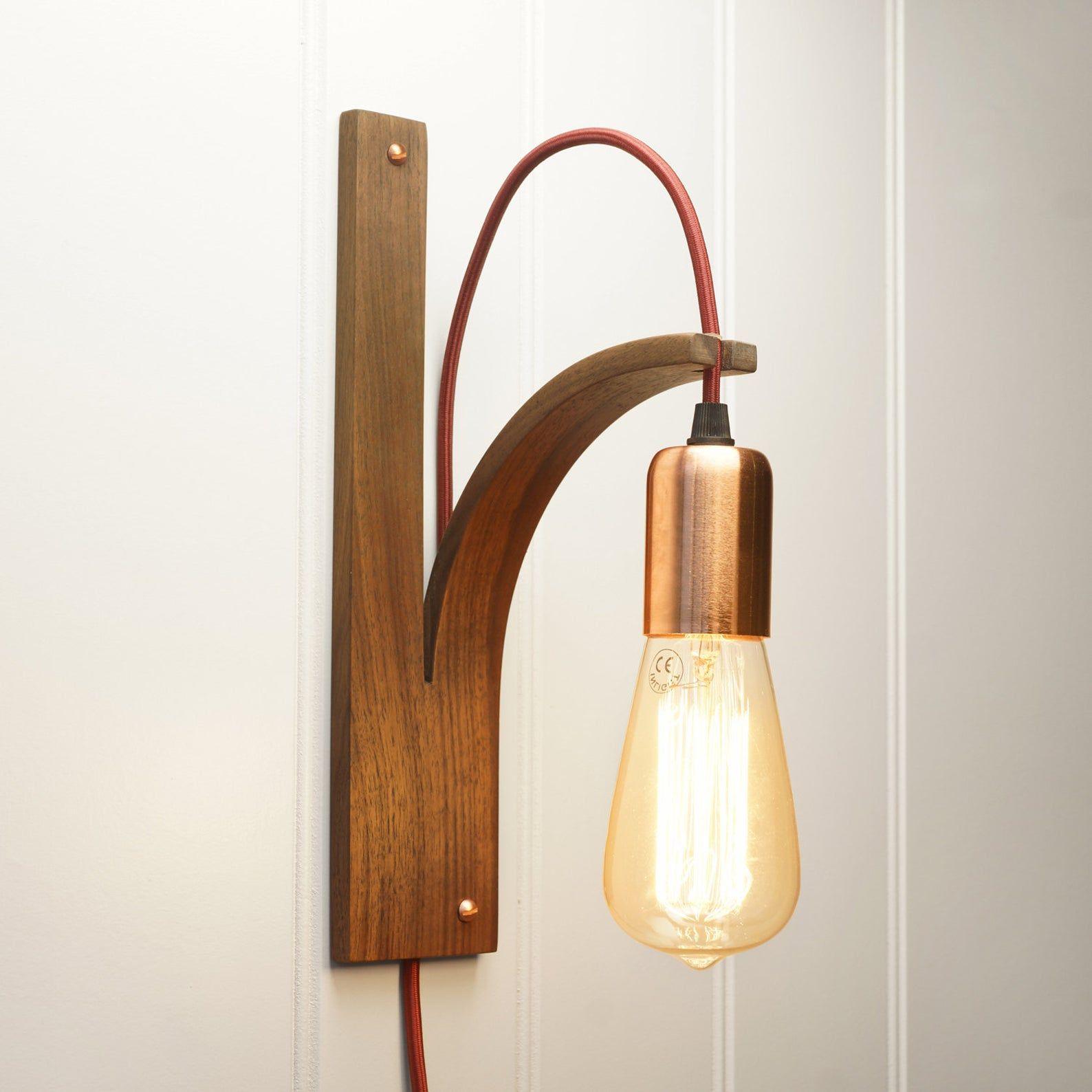 Noyer Mur Lumiere Applique Murale Eclairage Interieur Lampe En