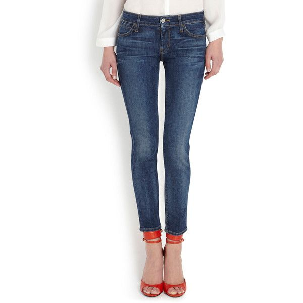Koral Mid-Rise Skinny Jeans ($300) ❤ liked on Polyvore