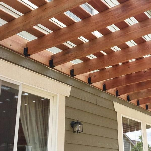 Pergola Joist Designs: OZCO Ornamental Wood Ties Image Gallery In 2020