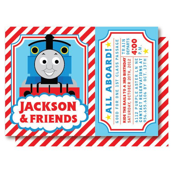 Thomas The Train Ticket Birthday Invitations By DelightPaperie 2000