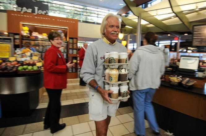 This is Dan. Every Wednesday and Thursday, he heads to local Cancer Centers and purchases a cup of coffee for each patient, nurse, doctor and everyone in between — straight from his own pocket. Give him a LIKE for this awesome act. :)