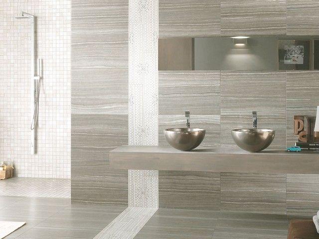 Rivestimento Gres Porcellanato Marmo Eramosa  Rivestimenti bagno nel 2019  Modern bathroom