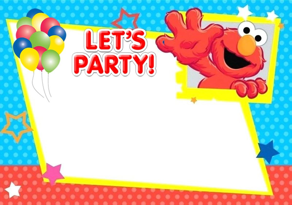 free printable elmo birthday invitation