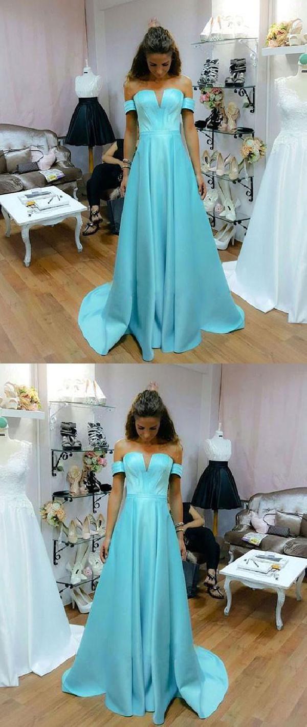 Custom made dazzling prom dresses long prom dresses blue prom