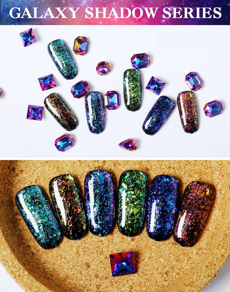Galaxy gel color Charming and attractive . | Gel Nails | Pinterest ...
